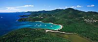 Aerial view of Salt Pond Bay<br /> Virgin Islands National Park<br /> St. John, U.S. Virgin Islands