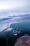 USA, California, Mammoth, ariel view of Owens Valley and Mono Lake
