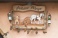 wrought iron sign domaine antoine meyer wettolsheim alsace france