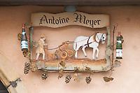 wrought iron sign domaine antoine meyer wettolsheim alsace france