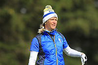Suzann Pettersen (EUR) on the 2nd tee during Day 3 Singles at the Solheim Cup 2019, Gleneagles Golf CLub, Auchterarder, Perthshire, Scotland. 15/09/2019.<br /> Picture Thos Caffrey / Golffile.ie<br /> <br /> All photo usage must carry mandatory copyright credit (© Golffile | Thos Caffrey)