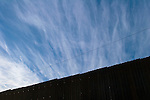 The US-Mexico border fence in Mexicali, Mexico on Thursday, April 13, 2006.<br />