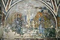 Crucifiction,wall-painting,crypt,AD 955,Osios Loukas Monastery,Greece
