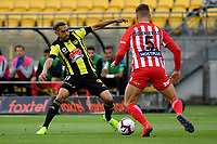 Wellington Phoenix&rsquo; David Williams in action during the A League - Wellington Phoenix v Melbourne City FC at Westpac Stadium, Wellington, New Zealand on Saturday 26 January 2019. <br /> Photo by Masanori Udagawa. <br /> www.photowellington.photoshelter.com