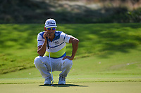 Rafael Cabrera Bello (ESP) lines up his putt on 1 during round 4 of the WGC FedEx St. Jude Invitational, TPC Southwind, Memphis, Tennessee, USA. 7/28/2019.<br /> Picture Ken Murray / Golffile.ie<br /> <br /> All photo usage must carry mandatory copyright credit (© Golffile | Ken Murray)