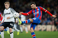 5th January 2020; Selhurst Park, London, England; English FA Cup Football, Crystal Palace versus Derby County; James McArthur of Crystal Palace clears the ball out - Strictly Editorial Use Only. No use with unauthorized audio, video, data, fixture lists, club/league logos or 'live' services. Online in-match use limited to 120 images, no video emulation. No use in betting, games or single club/league/player publications