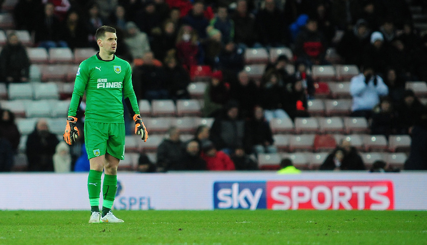 Burnley's Thomas Heaton<br /> <br /> Photographer Chris Vaughan/CameraSport<br /> <br /> Football - Barclays Premiership - Sunderland v Burnley - Saturday 31st January 2015 - Stadium of Light - Sunderland<br /> <br /> &copy; CameraSport - 43 Linden Ave. Countesthorpe. Leicester. England. LE8 5PG - Tel: +44 (0) 116 277 4147 - admin@camerasport.com - www.camerasport.com