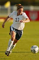 Heather O'Reilly played 27 minutes as the USWNT defeated Russia 5-1 on  September 29, at Mitchel Athletic Complex, Uniondale, NY.