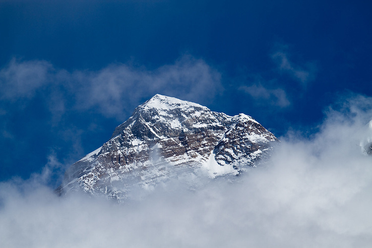 Mt. Everest summit pyramid as seen from summit of Lobuche.