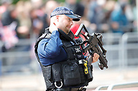 LONDON, ENGLAND - JUNE 08: Armed police at Trooping The Colour, the Queen's annual birthday parade, on June 08, 2019<br /> CAP/GOL<br /> ©GOL/Capital Pictures