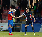 11.02.2019: Ross County v Inverness CT: Liam Polworth dejected with Keith Watson at full time