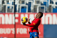 CARSON, CA - FEBRUARY 1: Luis Diaz #2 of Costa Rica traps a ball during a game between Costa Rica and USMNT at Dignity Health Sports Park on February 1, 2020 in Carson, California.