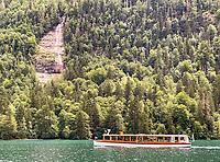 Elektroboot am Wasserfall Königsbach - Berchtesgaden 16.07.2019: Königssee