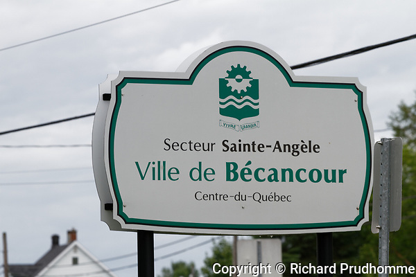 Outdoor sign for the city of Becancour,Quebec