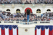 President Donald Trump delivers the address at his inauguration on January 20, 2017 in Washington, D.C.  Trump became the 45th President of the United States.         <br /> Credit: Pat Benic / Pool via CNP