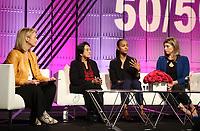 LOS ANGELES, CA - NOVEMBER 2: Hilary Rosen, Dolores Huerta, Zoe Saldana, Katie Hill, at TheWrap's Power Women's Summit Inside at the InterContinental Hotel in Los Angeles, California on November 2, 2018. Credit: Faye Sadou/MediaPunch