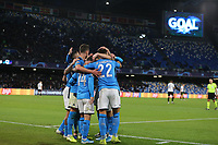 Dries Mertens of Napoli celebrates after scoring a goal<br /> Napoli 10-12-2019 Stadio San Paolo <br /> Football Champions League 2019/2020 Group E<br /> SSC Napoli - KRC Genk<br /> Photo Cesare Purini / Insidefoto