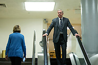 United States Senator Lindsey Graham (Republican of South Carolina) walks through the Senate Subway following a cloture vote on a Coronavirus Stimulus Package at the United States Capitol in Washington D.C., U.S., on Monday, March 23, 2020.  Credit: Stefani Reynolds / CNP/AdMedia