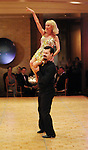 Diane Lokey Farb and her partner Damian Schweithale compete at the Dancing with the Houston Stars event benefitting the Houston Ballet at the home of John and Becca Thrash  Friday Sept. 24, 2010. (Dave Rossman/For the Chronicle)