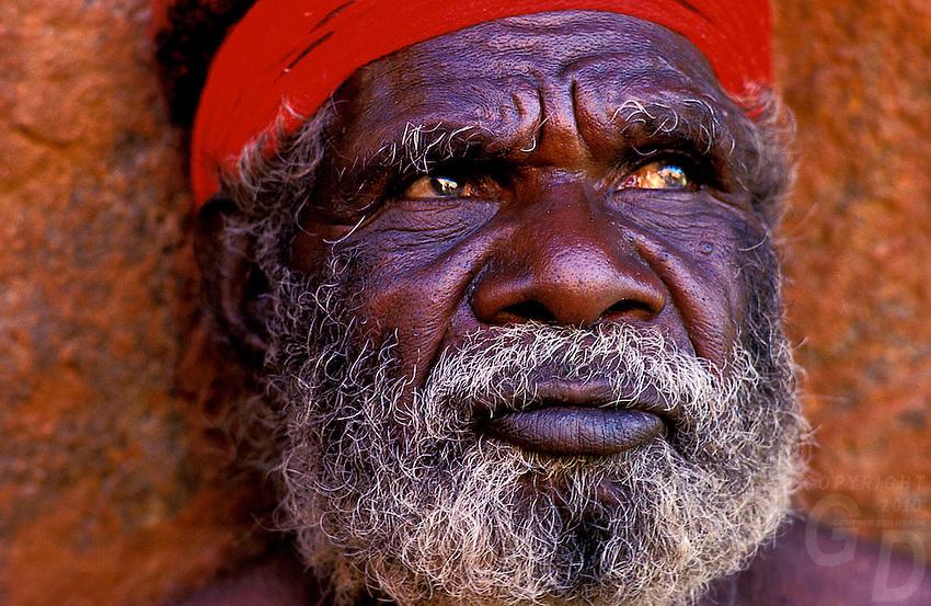 Aboriginal Elder at Ayers Rock, Central Australia
