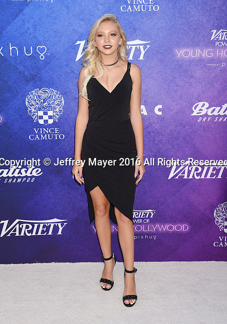 HOLLYWOOD, CA - AUGUST 16: Dancer/singer/actress Jordyn Jones arrives at Variety's Power Of Young Hollywood at NeueHouse Hollywood on August 16, 2016 in Los Angeles, California.