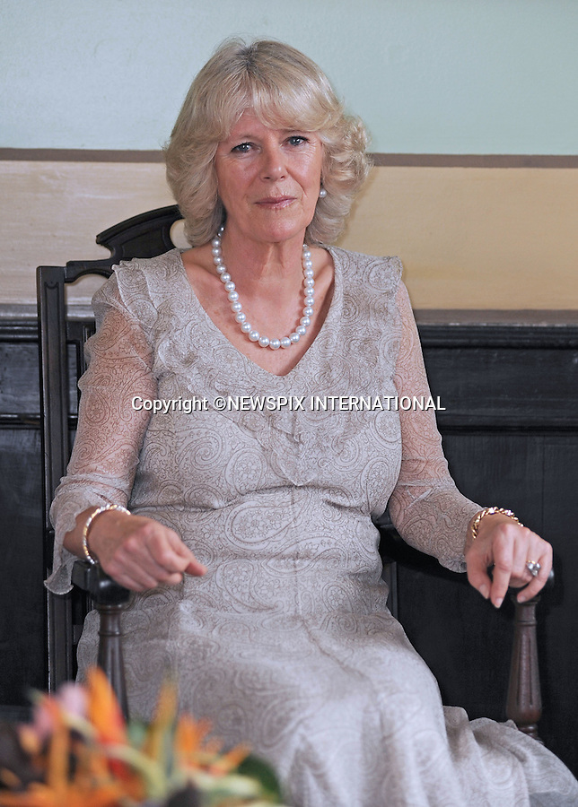 """PRINCE CHARLES AND CAMILLA, DUCHESS OF CORNWALL.Visit the Rio Negro Palace in Manaus where they were greeted by the State Governor of the Amazonas Eduardo Braga and his wife Sandra Backsman Braga..The Prince was given the prestigious award/title """"Friend Of The Forest"""" for his continued support in sustainable living, the award is only given out once a year and previous recipients include Sepp Blatter (FIFA President)..After which the Prince attended a round table discussion with Amazon State Officials and the Duchess had tea over a discussion about Osteoporosis .Third day Brazil on the second leg of their South American Tour, Manaus, Brazil_13/03/09..Mandatory Credit Photo: ©DIAS-NEWSPIX INTERNATIONAL..Please telephone : +441279324672 for usage fees..**ALL FEES PAYABLE TO: """"NEWSPIX INTERNATIONAL""""**..IMMEDIATE CONFIRMATION OF USAGE REQUIRED:.Newspix International, 31 Chinnery Hill, Bishop's Stortford, ENGLAND CM23 3PS.Tel:+441279 324672  ; Fax: +441279656877.Mobile:  07775681153.e-mail: info@newspixinternational.co.uk"""