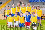 The Lissivigeen team that competed in the Killarney Garda football blitz in Fitzgerald Stadium on Thursday front row l-r: Ben Cussen,  Dion O'Neill, Bailey O'Sullivan, Aidan keane, Josh Lyne. Jack O'Connell, Sam Casey, Grace Courtney, Linda Taylor, Marie Courtney, Kate Lynch, Matt McAulliffe