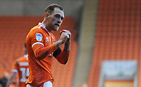 Blackpool's Harry Pritchard celebrates scoring his side's second goal <br /> <br /> Photographer Kevin Barnes/CameraSport<br /> <br /> The EFL Sky Bet League One - Blackpool v Walsall - Saturday 9th February 2019 - Bloomfield Road - Blackpool<br /> <br /> World Copyright © 2019 CameraSport. All rights reserved. 43 Linden Ave. Countesthorpe. Leicester. England. LE8 5PG - Tel: +44 (0) 116 277 4147 - admin@camerasport.com - www.camerasport.com