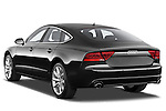 Rear three quarter view of 2013 Audi A7 Hatchback Stock Photo