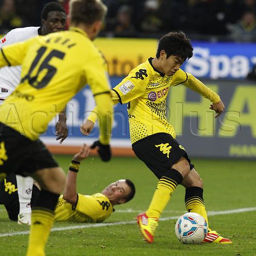 11 12 2011 Dortmund, Germany.  Borussia Dortmund versus  FC Kaiserslautern Signal Iduna Park Stadium Dortmund Shinji Kagawa scores the goal for 1 0