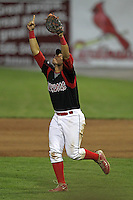 Batavia Muckdogs infielder Jon Rodriguez (28) during a game vs. the Jamestown Jammers at Dwyer Stadium in Batavia, New York July 31, 2010.   Batavia defeated Jamestown 6-1.  Photo By Mike Janes/Four Seam Images