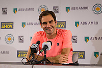 Rotterdam, The Netherlands, 17 Februari, 2018, ABNAMRO World Tennis Tournament, Ahoy, Tennis, Roger Federer (SUI)<br /> <br /> Photo: www.tennisimages.com