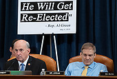 United States Representative Louie Gohmert (Representative of Texas), left, and US Representative Jim Jordan (Republican of Ohio), attend a House Judiciary Committee hearing on the impeachment of US President Donald Trump on Capitol Hill in Washington, DC, December 4, 2019.<br /> Credit: Saul Loeb / Pool via CNP