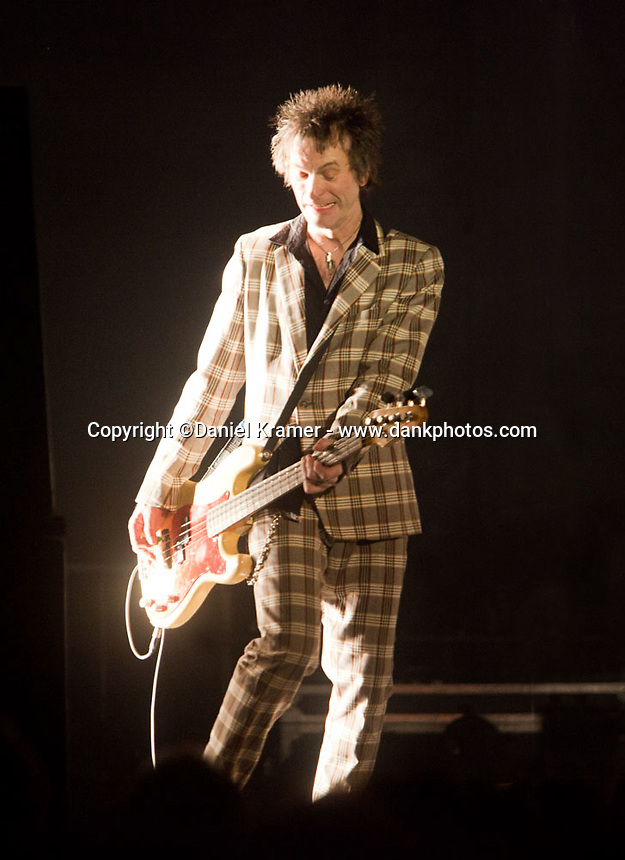Tommy Stinson performas with the Replacements at Midway Stadium in St. Paul, MN the bands first hometown appearance in 23 years. (9-13-14)