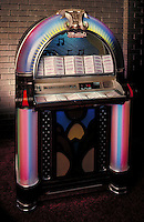 Reproduction of a classic colorful jukebox.  May not be used in an elementary school dictionary.