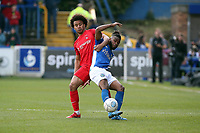 O's joe Widdowson & Tyrone Marsh during Macclesfield Town vs Leyton Orient, Vanarama National League Football at the Moss Rose Stadium on 14th April 2018