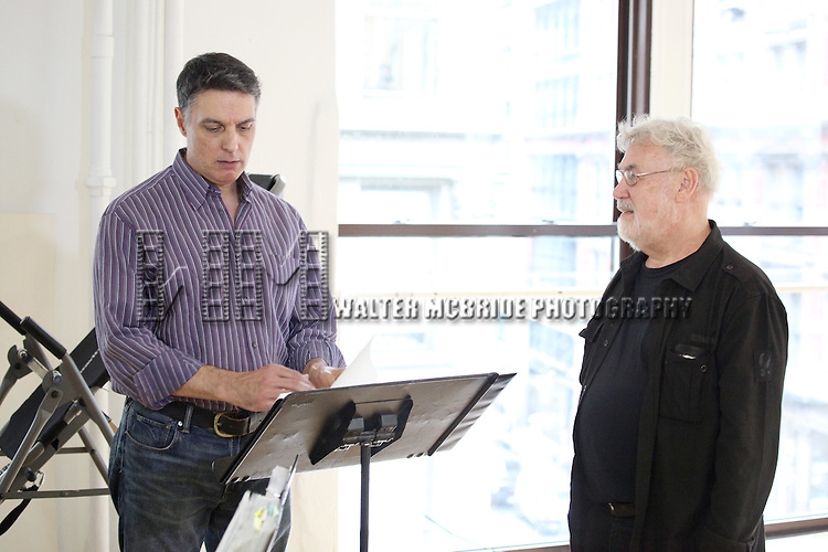 Robert Cuccioli & Director Christopher Martin.at the Actor's Fund Benefit Rehearsal for 'CHESS' on 7/20/2012 in New York City.  ***EXCLUSIVE***