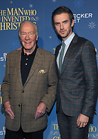 NEW YORK, NY - NOVEMBER 12: Christopher Plummer and Dan Stevens attend 'The Man Who Invented Christmas' New York Screening at Florence Gould Hall on November 12, 2017 in New York City. <br /> CAP/MPI/JP<br /> &copy;JP/MPI/Capital Pictures