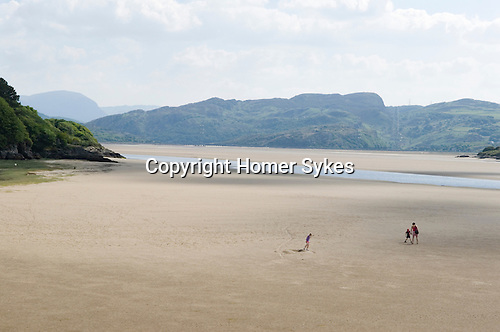 River Dwyryd estuary. Portmerion Gwynedd North Wales UK Looking across to the Snowdonia national park.
