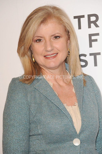 WWW.ACEPIXS.COM . . . . . .April 20, 2011...New York City...Arianna Huffington attends the opening night premiere of 'The Union' at the 2011 Tribeca Film Festival at World Financial Center Plaza on April 20, 2011 in New York City.....Please byline: KRISTIN CALLAHAN - ACEPIXS.COM.. . . . . . ..Ace Pictures, Inc: ..tel: (212) 243 8787 or (646) 769 0430..e-mail: info@acepixs.com..web: http://www.acepixs.com .