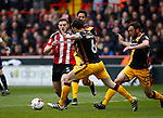 Jack O'Connell of Sheffield Utd in action during the English League One match at Bramall Lane Stadium, Sheffield. Picture date: April 17th 2017. Pic credit should read: Simon Bellis/Sportimage
