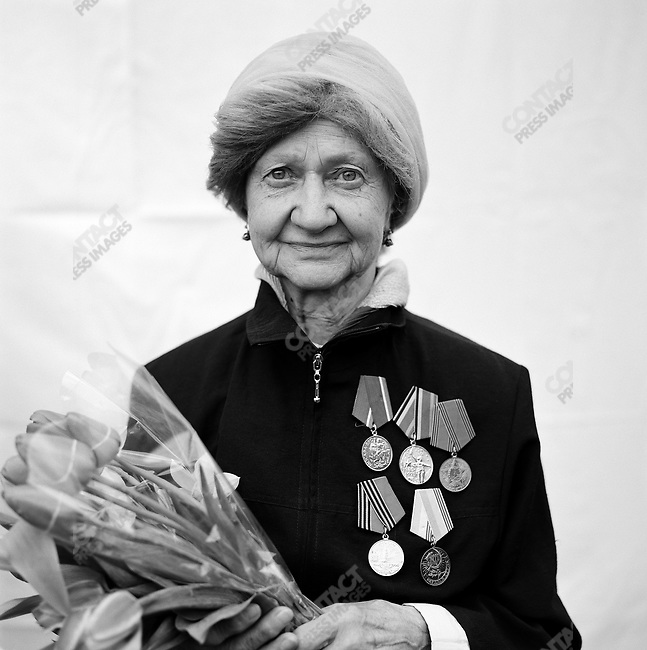 WWII veteran during Victory Day celebrations, Unknown, Home Front, Moscow, Russia, May 9, 2009