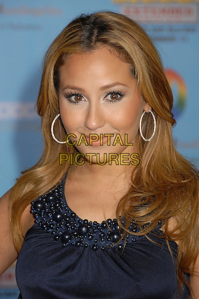 "THE CHEETAH GIRLS - ADRIENNE BAILON.""High School Musical 2"" Los Angeles DVD Premiere at the El Capitan Theatre, Hollywood, California, USA..November 19th, 2007.headshot portrait hoop earrings .CAP/ADM/BP.©Byron Purvis/AdMedia/Capital Pictures."