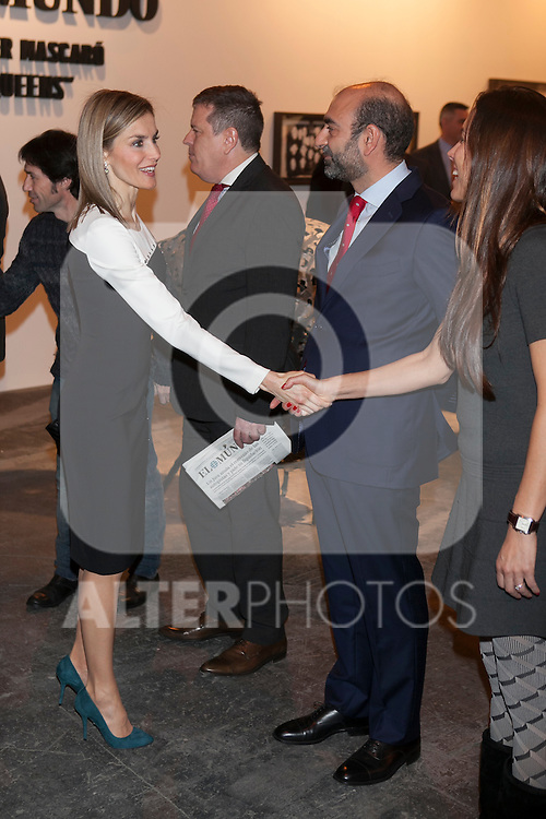 Queen Letizia of Spain visits ARCO Contemporary Art Fair inauguration in Madrid, Spain. February 26, 2015. (ALTERPHOTOS/Victor Blanco)