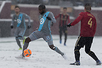 Minneapolis, MN - March 12, 2017: Minnesota United FC was defeated by Atlanta United with score of 1-6 in the first Major League Soccer (MLS) game at TCF Stadium.