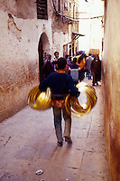 Narrow walking street, Medina, Morocco