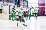 V&auml;ster&aring;s 2014-03-08 Bandy SM-semifinal 4 V&auml;ster&aring;s SK - Hammarby IF :  <br /> V&auml;ster&aring;s Tobias Holmberg jublar efter att ha gjort 3-2<br /> (Foto: Kenta J&ouml;nsson) Nyckelord:  VSK Bajen HIF jubel gl&auml;dje lycka glad happy