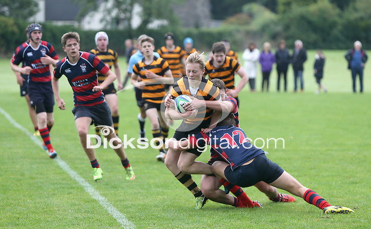 BALLYMENA ACADEMY vs RBAI | Saturday 19th September 2015<br /> <br /> David Lyttle on the attack for RBAI during the a schools friendly fixture at Ballymena Academy, Ballymena, County Antrim, Northern Ireland.<br /> <br /> Photo credit: John Dickson / DICKSONDIGITAL