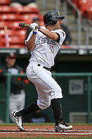 May 9, 2009:  Second Baseman Argenis Reyes of the Buffalo Bisons, International League Class-AAA affiliate of the New York Mets, at bat during a game at the Coca-Cola Field in Buffalo, FL.  Photo by:  Mike Janes/Four Seam Images