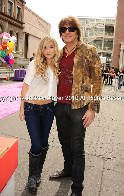 HOLLYWOOD, CA. - October 24: Ava Sambora (L) and musician Richie Sambora arrive at Variety's 4th Annual Power of Youth event at Paramount Studios on October 24, 2010 in Hollywood, California.
